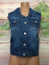 Ashley Stewart NEW Blue Jean Vest 18 20 Indigo Highway Sleeveless Jacket 1X