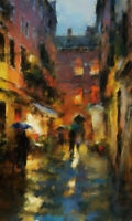 Original Street impressionist paintings by Brian Tones