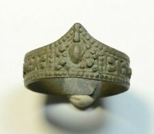 Rare Ancient Roman To Medieval Bronze Archer''s Ring, Thumb Ring for Archery