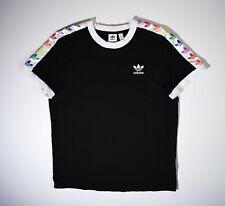 Adidas Originals Trefoil Rainbow T-shirt Top Shirt Jersey Cotton Women's UK 12