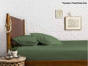 100% Egyptian Cotton Sateen Weave 800 Thread Count Queen Fitted Sheet with Elast
