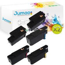 10 Toners d'impression type Jumao Noir, Cyan, Jaune, Magenta pour Dell E525