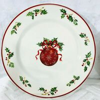 Christopher Radko Traditions Holiday Celebration Red Ornament Dinner Plate Set 4