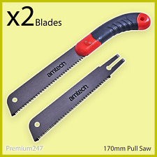 170mm JAPANESE NOKOGIRI PULL SAW & 2 BLADES 10TPI Woodwork Carpentry Hand Tool