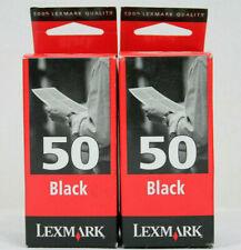 Lexmark 50 Twinpack Original P700 P3100 Z12 Z22 Z32 Z705 Black Ink Cartridges