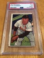 1952 Bowman # 14 - Cliff Chambers - PSA 3 (Mc) - St. Louis Cardinals