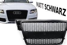 Audi A4 B8 2009-12 Wabengrill KühlerGrill MATT SCHWARZ Mesh Grill S4 S tuning