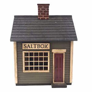 Harold Turpin American Folk Art Large Early American Saltbox House Miniature