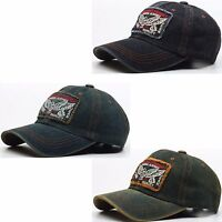 B76 Denim Style Jeans Washing Hawk Design Vintage Ball Cap Baseball Hat Truckers