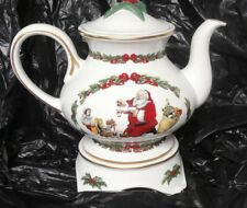 1991 Franklin Mint The Night Before Christmas Teapot