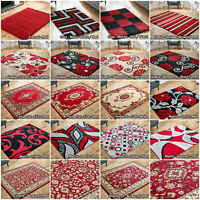 LOW PRICE RED LARGE CLASSIC MODERN SHAGGY FLAT SALE SOFT AREA RUG HALLWAY RUNNER