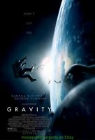 GRAVITY MOVIE POSTER DS 27x40 Mint Advance Style SANDRA BULLOCK  GEORGE CLOONEY