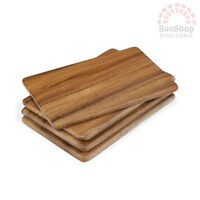 100% Genuine! Davis & Waddell Taste Individual Acacia Serving Board Set of 4!