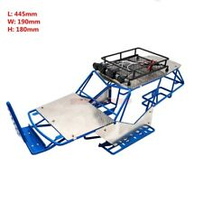 1/10 RC AXIAL WRAITH METAL FRAME BODY ROLL CAGE W/ ROOF RACK AND SHEETS BLUE