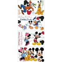 Disney MICKEY MOUSE 32 BIG Wall Decals PLUTO GOOFY MINNIE Stickers Room Decor