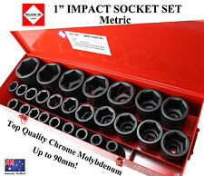 "TEK-CHROME USA 1"" DR IMPACT SOCKET SET TRADE QUALITY CR-M BEST THERE IS SPECIAL"