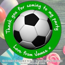 Personalised Football Birthday Party round stickers labels party cone sheet