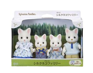 Sylvanian Families SILK CAT FAMILY FS-12 Epoch Japan Calico Critters