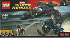 LEGO SUPER HEROES 76047 BLACK PANTHER PURSUIT Captain America  New Nib Sealed