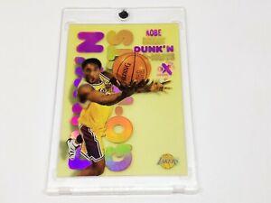 1998-99 E-X Century Dunk 'N Go Nuts #6 KOBE BRYANT!! Yellowing