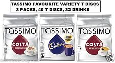 Tassimo Coffee 3 Packs Costa Cappuccino Cadbury Costa Americano Total 48 T Discs
