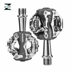 ZERAY Bike Self-locking Pedals Cycling Clipless Pedals Aluminum SPD CR-MO Pedals