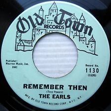 the EARLS doowop 45 REMEMBER THEN / LET'S WADDLE mint minus OLD TOWN e0671