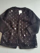 Hallhuber Jacket Size 38 UK 10 Sequin Black NEW