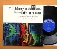 SUA 10614 Debussy Iberia Falla Le Tricorne Jean Fournet EXCELLENT Supraphon Mono