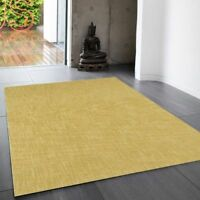 Tweed Ochre Plain Wool Rug By Asiatic 120 x 180cm Handmade in India Brand-New!!!