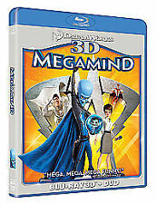 Megamind 3D (Blu-ray 3D + Blu ray + DVD) [2010], DVD, New, FREE & Fast Delivery