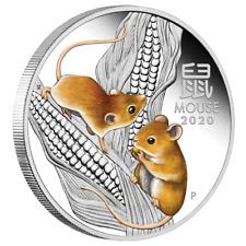 Australien 1 Dollar 2020 Jahr der Maus   Mouse (1.) Lunar III. - 1 Oz Silber PP