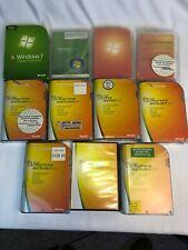Microsoft Software Lot (11) Items Windows Home Premium 7 Vista Office 2007