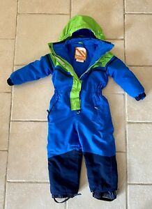 Campri Kids Ski Outerwear Suit - 3-4 Years Green And Blue
