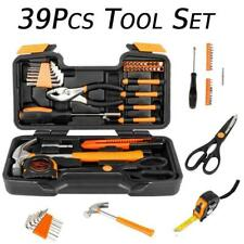 39pcs Orange Tool Set Household Tools Kit  Box Mechanics Women Ladies