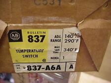 New NiB Allen Bradley 837-A6A Temperature control controller switch