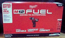 Milwaukee 2504-21 M12 Fuel 1/2' Hammer Drill / Driver Kit 12V ~ New Sealed Box