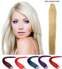 20 EXTENSION TAPE BANDE ADHESIVE CHEVEUX 100% NATURELS REMY HAIR 45CM AAAAA+