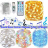 5M-10M LED Music String Fairy Lights Remote Control Timer Waterproof Party Decor
