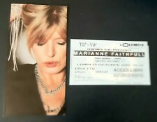 ticket billet place concert MARIANNE FAITHFULL 2002 PARIS + carton invitation