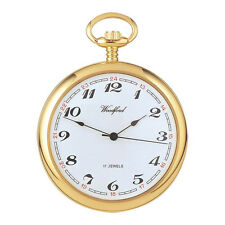 Woodford 1028 Mechanical Full-hunter Pocket Watch Mens Gold-plated W/ Chain