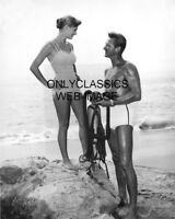 SEA HUNT TELEVISION SHOW SCUBA DIVING PHOTO LLOYD BRIDGES WITH SEXY GIRL BEAUTY