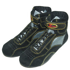 X-Line Size 7 Euro 40 Black/Kevlar Kart Racing Boots Clearance Stock