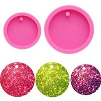 DIY Shiny Round Keychain Pendant Silicone Mould Epoxy Resin Craft Mold Mould