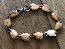 Copper Vintage Leaf Leaves Bracelet 7 inches long