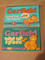 Garfield Lot of 2 Paperback Books 13th Food For Thought & 20th Takes Up Space