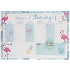 Flamingo Weekly Calendar Planner Desk Organiser Pad