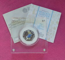 PETER RABBIT 2017 UK 50p SILVER PROOF COIN