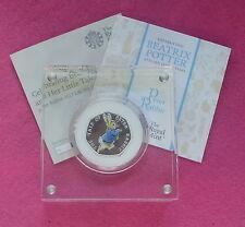 Peter Rabbit 2017 UK 50p argento Proof Coin