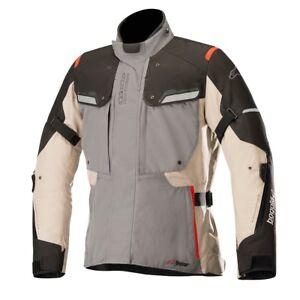 Alpinestars Bogota v2 Drystar Waterproof Motorcycle Jacket Grey Sand & Black